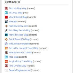 Contributor list
